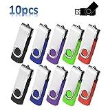 4 Go Lot de 10 Clés USB 2.0 Pivotant Stockage Mémoire Flash Drive Lecteur USB Plier...