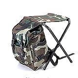 Camouflage Rucksack Kühltasche Stuhl High Intensity Stahl Kreuz für Angeln Hocker Camping