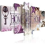 Cuadro 200x100 cm - 3 tres colores a elegir - 5 Partes - Formato Grande - Impresion en calidad fotografica - Cuadro en lienzo tejido-no tejido - Home flores 020115-72 200x100 cm B&D XXL