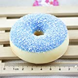 Squishy Scented Slow Rising Toys,Hansee Squeeze Soft Colorful Doughnut Stress Reliever (7x7x2.5cm, Random)