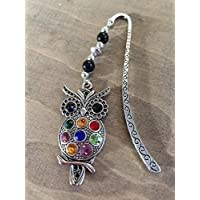 Old Wise Owl Crystal Bookmark