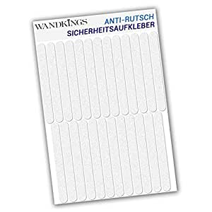 wandkings anti rutsch sticker 18 klebestreifen 20 x 1 5 cm. Black Bedroom Furniture Sets. Home Design Ideas