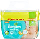 Pampers Baby-Dry Windeln, Gr.4+ (9-18kg), Mega Plus, 1er...