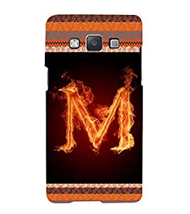 iFasho alphabet name series M Back Case Cover for Samsung Galaxy A5