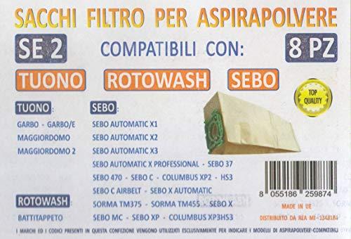 P13 CONFEZIONE DA 5 SACCHI FILTRO PER VETRELLA sacchetti carta MIDIMAX