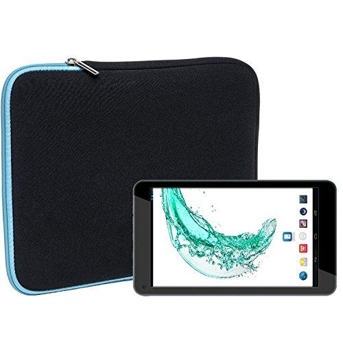 Slabo Tablet Tasche Schutzhülle für Odys Mira (7 Zoll) Hülle Etui Case Phablet aus Neopren - TÜRKIS/SCHWARZ