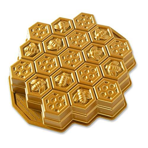 Nordic Ware 85477Honeycomb Pull-Apart Pfanne, Aluminium, Gold
