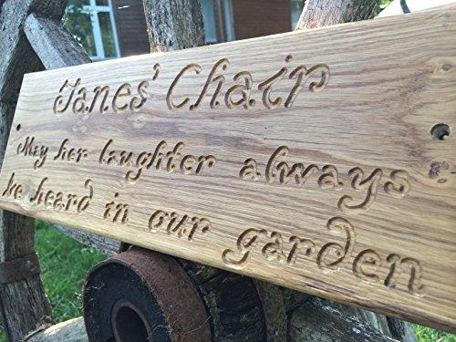 Targa in legno massiccio per esterni, personalizzabile