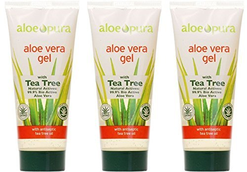 Organic Aloe Vera Gel, paquet de 3 x 200 ml