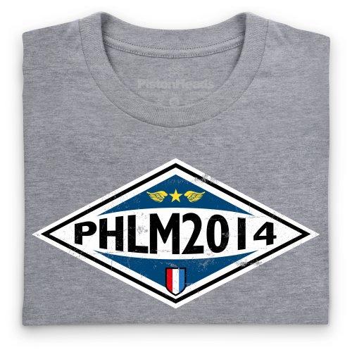 PistonHeads PHLM14 Diamond T-Shirt, Herren Grau Meliert