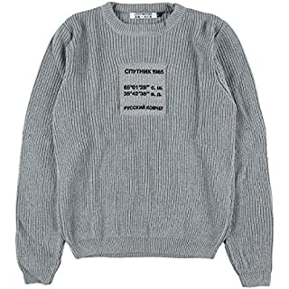 Sputnik 1985 Damen Knitted Sweater 'Russian Ark' Light Grey, Größe XL