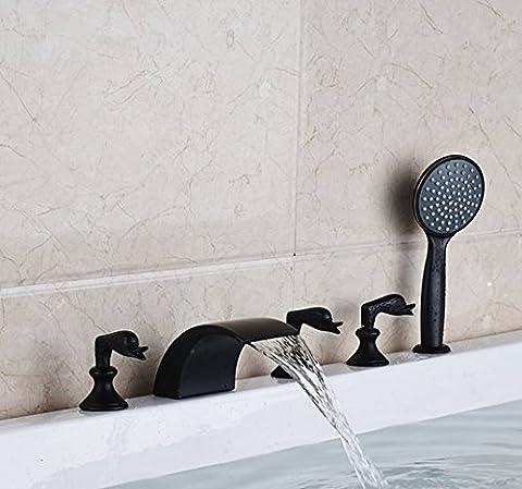 Gowe moderne mélangeur robinet baignoire cascade poignées trois robinets Mitigeur baignoire romaine avec douchette couleur: style 2