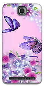 The Racoon Lean Fairies and Butterflies hard plastic printed back case / cover for Alcatel Onetouch Flash