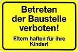Warnschild - Betreten der Baustelle verboten - 308511 - Gr. 30x20cm