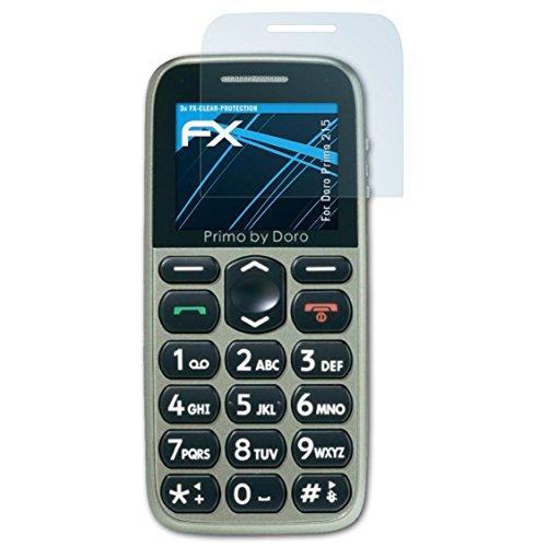atFolix Schutzfolie kompatibel mit Doro Primo 215 Folie, ultraklare FX Bildschirmschutzfolie (3X)