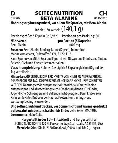 Scitec Nutrition Beta Alanine Carnosine Booster Capsules – 150 Caps