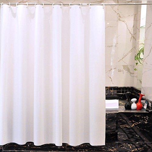 PEVA dusche vorhang liner mehltau resistente,Weiß Toilette Wasserdicht Vorhang Tür vorhang Duschvorhänge textil Haken- & liner-K 300x200cm(118x79inch)