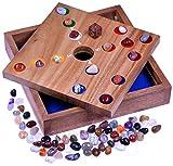 Big Hole - Pig Hole - Würfelspiel - Gesellschaftsspiel - Brettspiel aus Holz mit Edelsteinen