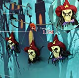 Ning Night Halloween Décoration Guirlande Chaîne Drapeau Bar Arrangement Fournitures Magasin Atmosphère Atmosphère Crâne Pendentif Chaîne,Rouge
