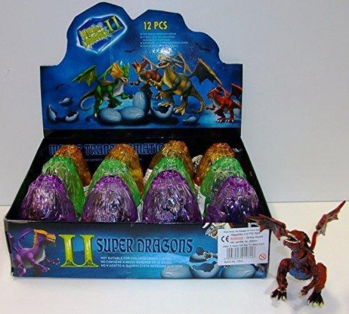 Dragones de construcción en huevos de cristal (12 por caja)