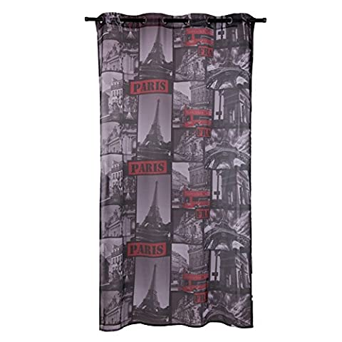 Rideau 45 140 - Insun Rideaux à Oeillets Occultant Gris Foncé