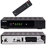 Anadol HD 202c Plus digitaler Full HD 1080p Kabel-Receiver [Umstieg Analog auf Digital] (HDTV, DVB-C / C2, HDMI, SCART, Coaxial, Mediaplayer, USB 2.0) - inkl. HDMI Kabel schwarz