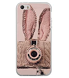 Cute Camera Cover 2D Hard Polycarbonate Designer Back Case Cover for Apple iPhone 5