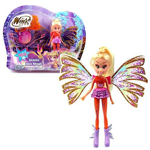 Stella | Sirenix Mini Magic Bambola | Winx Club | Fata con Trasformazione 12 cm