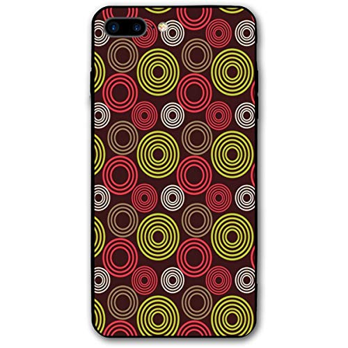 Anti-vortex-cover (ZZHOO Compatible with iPhone 7/8 Plus Case, Colorful Funky Vortex Stripes Simplistic Spring Kids Tones Design,Anti-Scratch Shock Absorption Protective Cover)