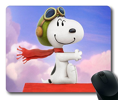 iCustomonline Peanuts Snoopy Oblong Mouse Pads Customized Made to Order Support in 22*18*1.3CM