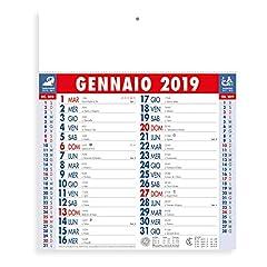 Idea Regalo - Calendari personalizzati personalizzabili Calendario personalizzato 2019 con nome logo o slogan Gadget promozionali aziendali - PA662 OLANDESE MIDI - 100 pezzi Stampa Testata a colori