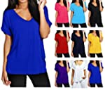 Womens Oversize Fit V Neck Top Ladies...
