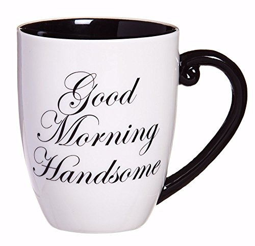 Good Morning Handsome Elegant Coffee Mug by Cypress Evergreen Cup