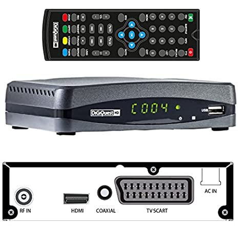 Digitaler HDTV DVB-T/T2 HEVC H.265 Receiver von DigiQuest ( HDMI,