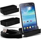 (Black)Samsung Galaxy Grand 2 G7102 Micro USB de escritorio de carga del muelle del soporte Montaje y Micro USB del ordenador portátil / PC de sincronización de datos cable de carga By ONX3
