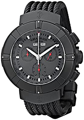Charriol Celtica C44BM.173.004 44mm Stainless Steel Case Black Rubber Anti-Reflective Sapphire Men's Watch