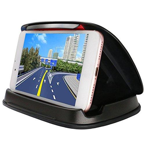 Soporte de coche para teléfono móvil, soporte para iPhone 7, 7 Plus, X, 8, 8 Plus, salpicadero GPS soporte de montaje en vehículo para Samsung Galaxy S9 S8 Note 8, 3 – 6,8 pulgadas Universal Smartphones – negro