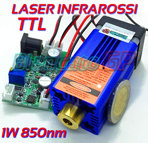 MODULO LASER 850nm 1 W INFRAROSSI 12 V DC Infrarot Laser module Brenner
