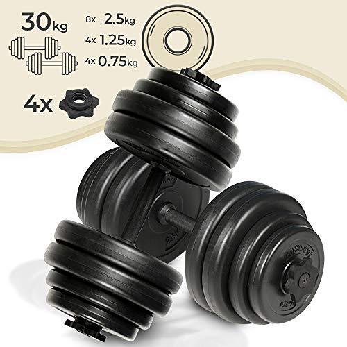 Physionics®, Manubrio Corto con Dischi, 30 kg