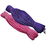 Happycraft Set of 2 Nylon 2mm Macrame Cord (60 Meters each cord) 6 ply Nylon Knotting Poly Propylene Cord for Macrame (Approx - 200 Grams) Ideally Used for Jewelry Making, Bags and Various Other Craft Projects.