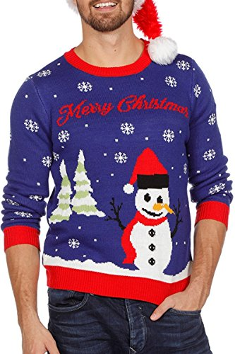 *Weihnachtspullover Schneemann Ugly Christmas Sweater Pullover Weihnachten S-XXL*
