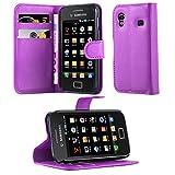 Cadorabo Hülle für Samsung Galaxy ACE 1 - Hülle in Mangan VIOLETT – Handyhülle mit Kartenfach und Standfunktion - Case Cover Schutzhülle Etui Tasche Book Klapp Style