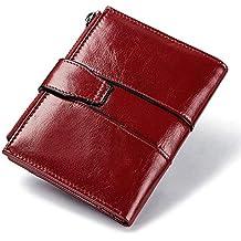 YIXUN Mini Monedero de la Mujer Caja de la Tarjeta de crédito Bolsa compacta Bifold Billetera