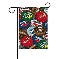 Buyxbn Cap Garden Flag Double Sided House Yard Indoor Outdoor Seasonal Decoration Large 28x40 inches