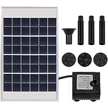 Fuente solar solar power Bomba de agua panel solar power–Bomba sumergible Fuente Estanque Bomba de agua kit 60cm Altura para plantas de jardín Piscina Estanque 5W