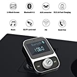 TechCode Auto-MP3-Player mit Bluetooth, Auto-Ladegeräte 2 USB Port Wireless Bluetooth FM Transmitter Freisprecheinrichtung Telefon Car Kits MP3-Player Car Kit MP3(HY88)