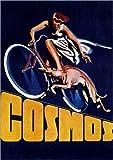 Poster 30 x 40 cm: Cosmos Fahrräder - hochwertiger Kunstdruck, Kunstposter