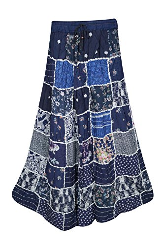 Boho Chic Designs -  Gonna  - linea ad a - Donna Navy blue