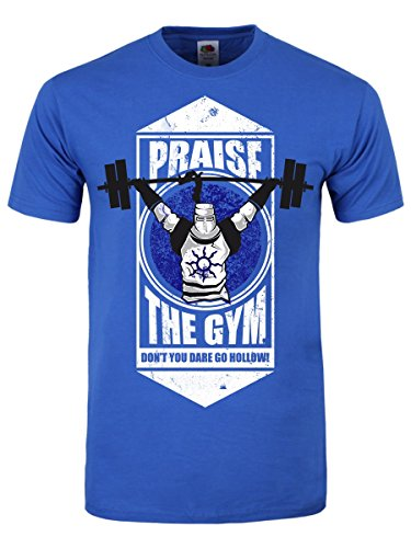 Herren-T-Shirt-Praise-The-Gym-blau