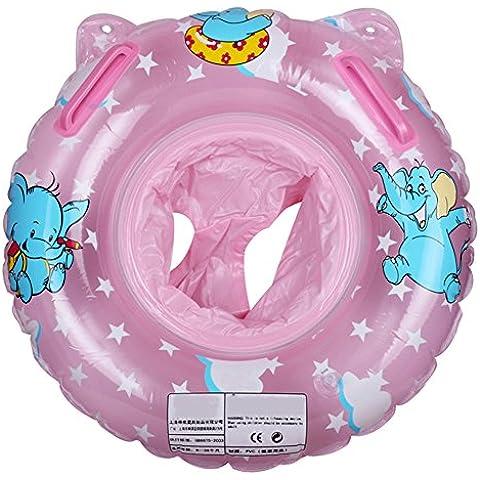 Angelbubbles Flotador para Bebé Anillo de la Nadada del bebé Infante Flotador de aprendizaje de Natación para Niños Inflable Flotador Piscina Bano
